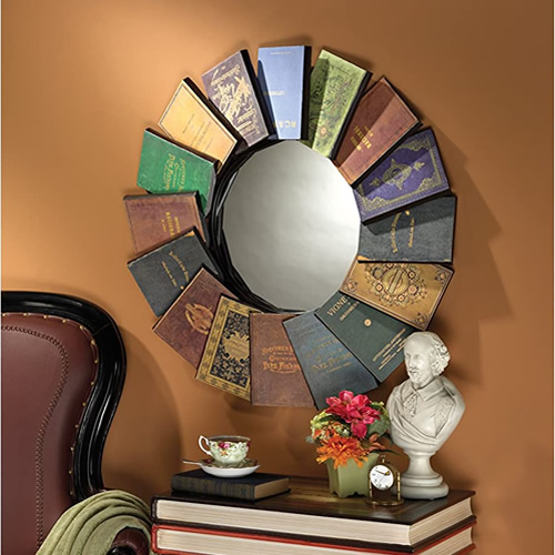 Design Toscano MH40069 Lord Byron's Compendium of Books Mirror