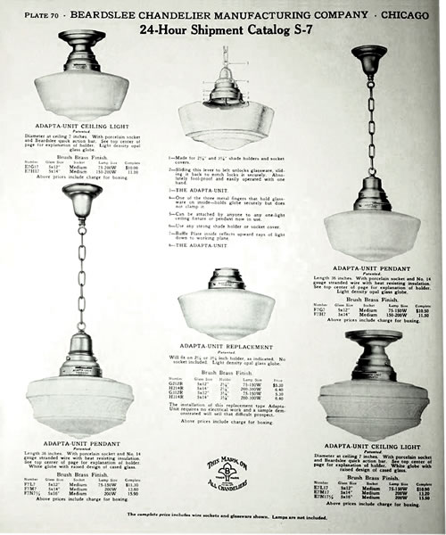 Early Ad for Schoolhouse Lights