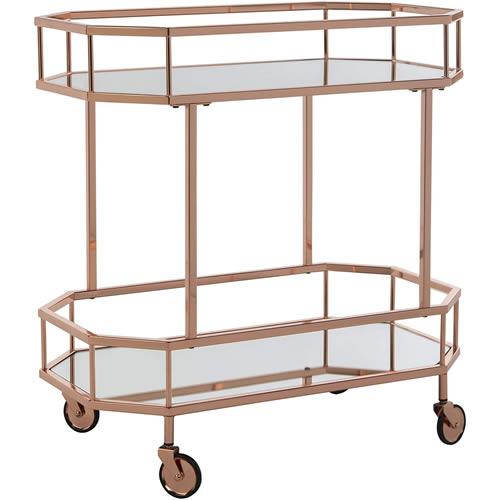 Safavieh BCT8004A Silva Rose Gold Bar Cart