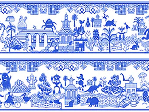 The pattern on Calamity Ware Beast Bowls