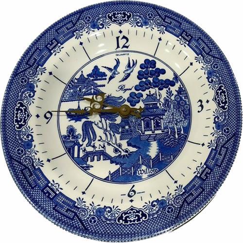Churchill Blue Willow Wall Clock