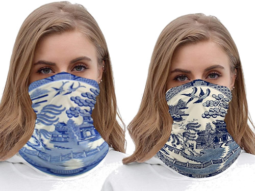 Blue Willow Face Masks