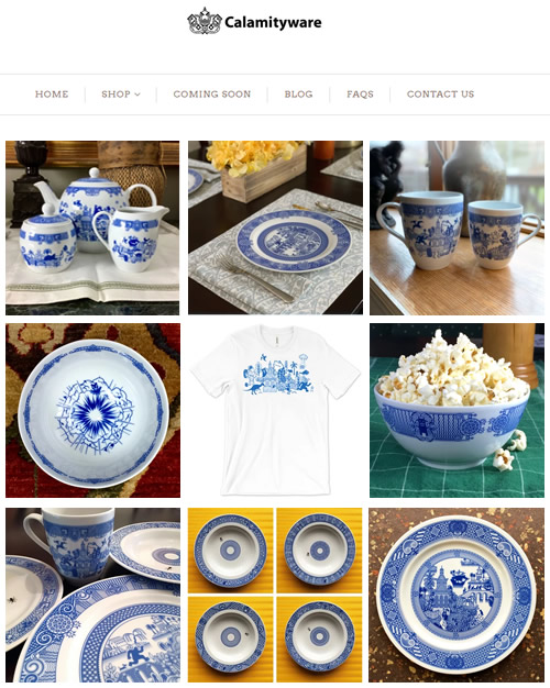 Calamity Ware - A Twist in Blue Willow