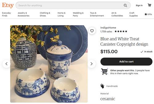Indigo Home Blue and White Treat Canister Set on Etsy