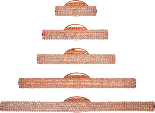 Maxim Lighting Meteor Rose Gold and Crystal Vanity Lighting