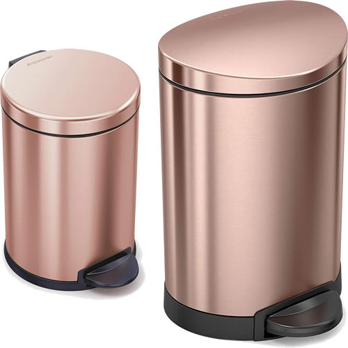 SimpleHuman 1.6 Gallon and 1.2 Gallon Step Trash Cans