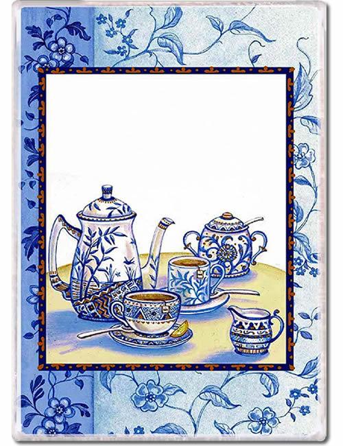 Blue Willow Teapot Fridge Magnet