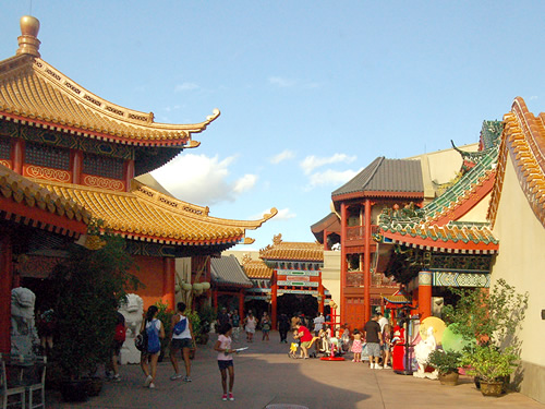 Epcot Center Chinese Pavillion Courtyard Photo by Eric Marshall
