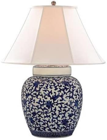 """Lauren by Ralph Lauren LRL15912BWP Mandarin Floral Porcelain Table Lamp. 1 x 150 watt 3-way Medium base. 27"""" high x 19"""" wide. Lamp Body 9"""" wide."""
