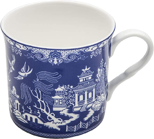 Grace Teaware Blue Willow Bone China 10-Ounce Coffee or Tea Mug