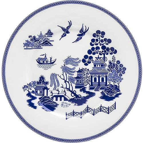 Grace Teaware Blue Willow Dessert Plate