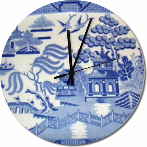 "15"" Blue Willow Wall Clock"