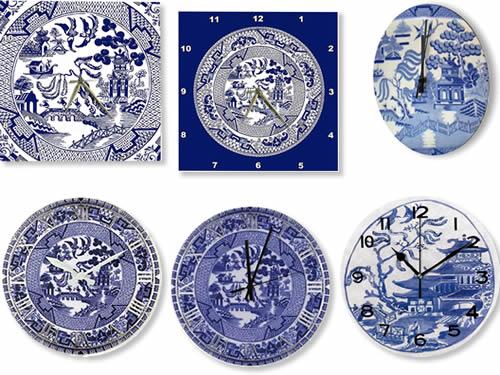 Blue Willow Wall Clocks