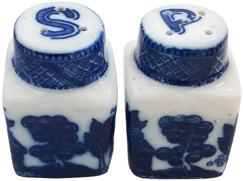 Mini Blue Willow Salt and Pepper Shakers