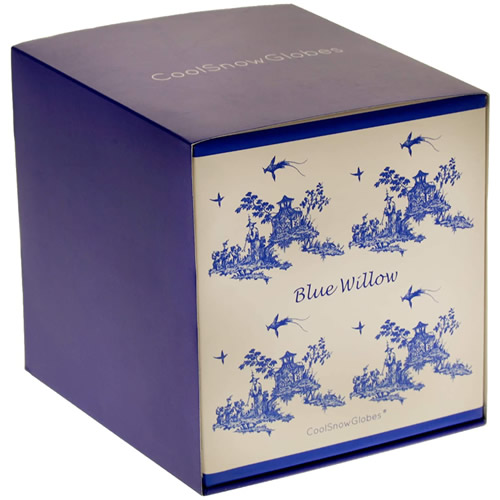 Blue Willow Snow Globe Presentation Box