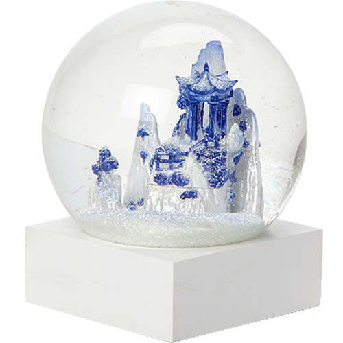 Blue Willow Snow Globe Cool Snow Globes Liz Ross and David Westby