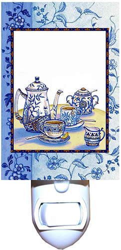Blue Willow Teapot Night Light