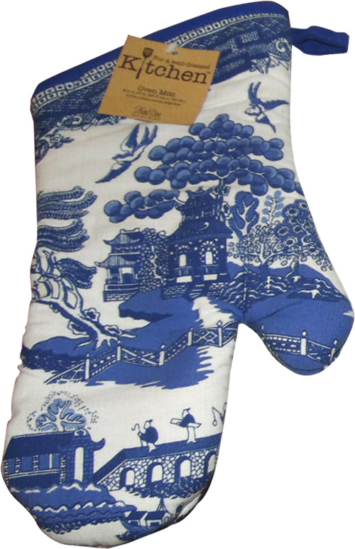 Kay Dee Designs Blue Willow Oven Mitt
