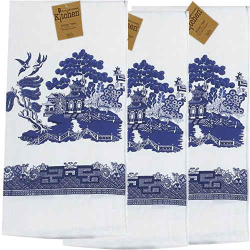 Kay Dee Designs Blue Willow Flour Sack Towels