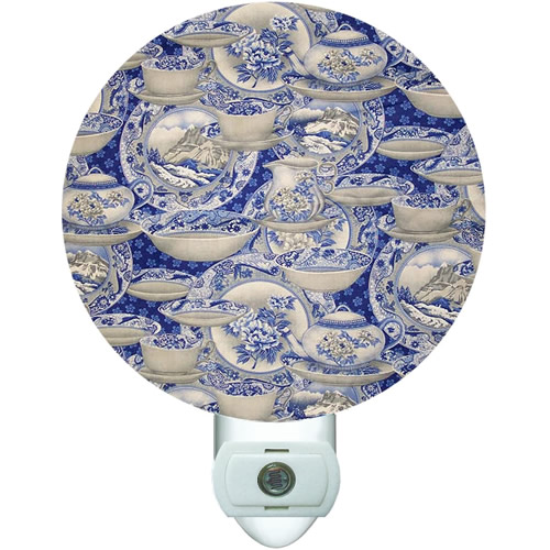 Blue Willow China Collage Night Light