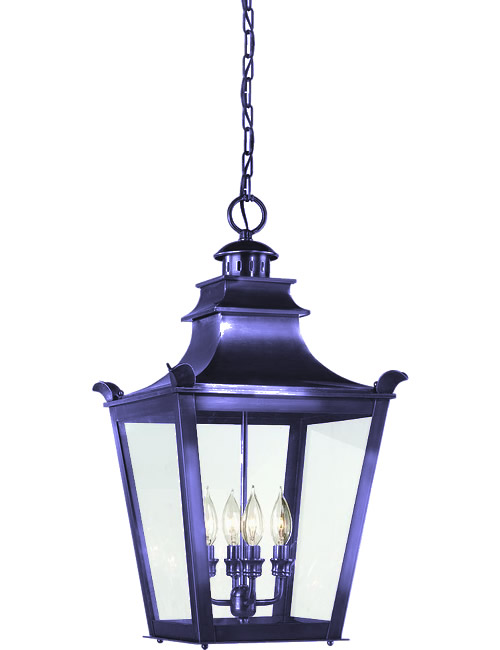 Purple Metallic Paint on Troy Lighting Dorchester Asian Influenced Indoor/Outdoor Pendant