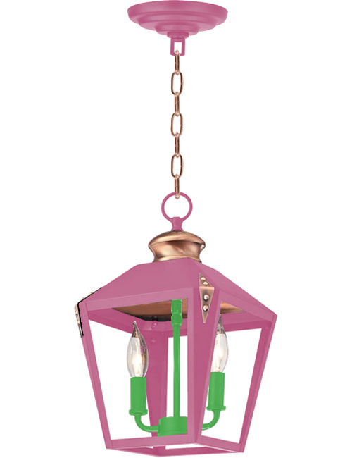 Pink and Green Paint on Westinghouse Valley Forge Pendant