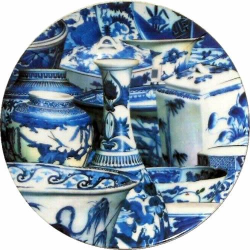 Annie Modica Imari Blue Melamine Dinner Plate