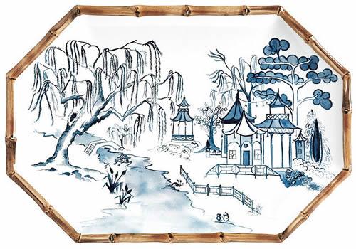 Ballard Designs Bamboo Melamine Platter