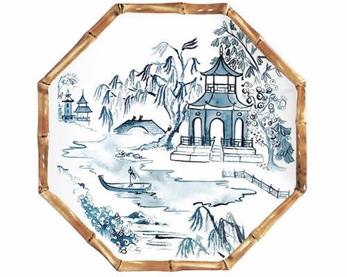 Ballard Designs Bamboo Melamine Accent Plate