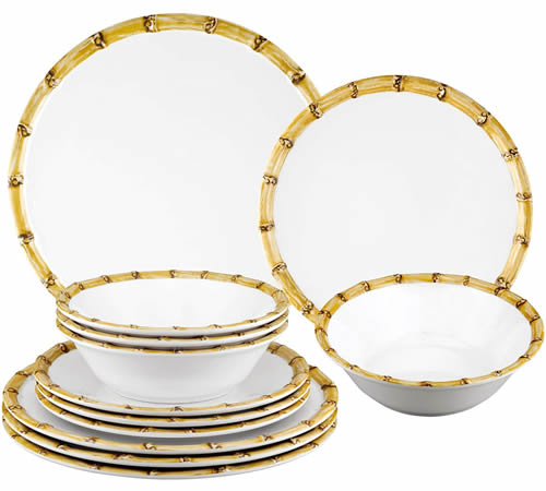 Gourmet Art Bamboo Melamine Dinnerware