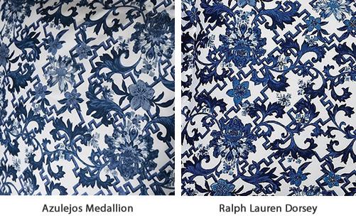 Azulejos Medallion looks very much like Ralph Lauren Dorsey