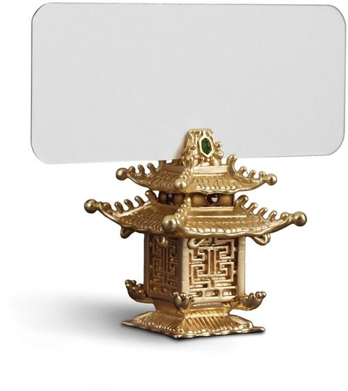 L'Objet PCH6501 Gold Pagoda Place Card Holder