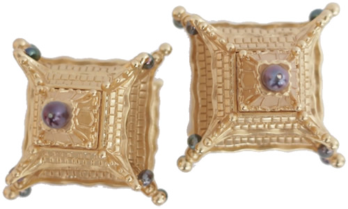 Top of L'Objet Pagoda Spice Jewels in Gold