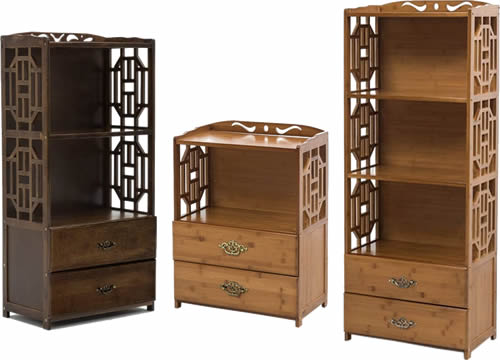 Asian Cabinets with Drawers