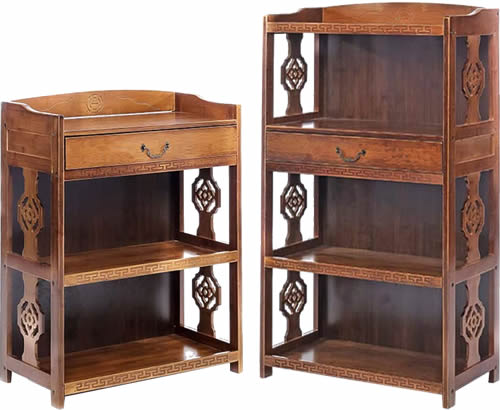 Asian Inspired Shelves with Drawer