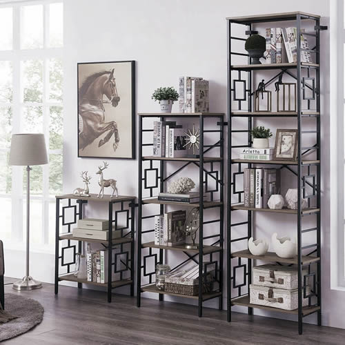 Metal Open Display Shelves with Lattice Sides