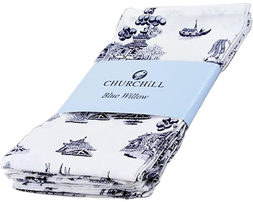 Churchill Blue Willow Cotton Napkins
