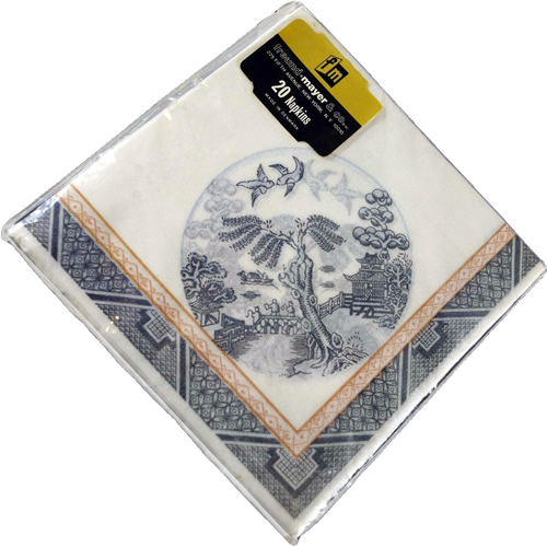 Freund Mayer & Co Blue Willow Paper Napkins