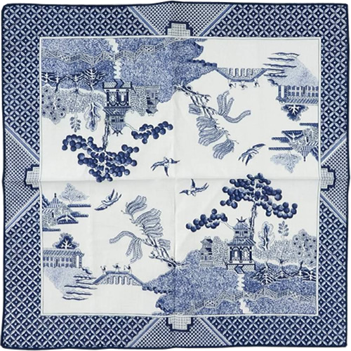 Royal Linens Johnson Brothers Blue Willow Cloth Napkin