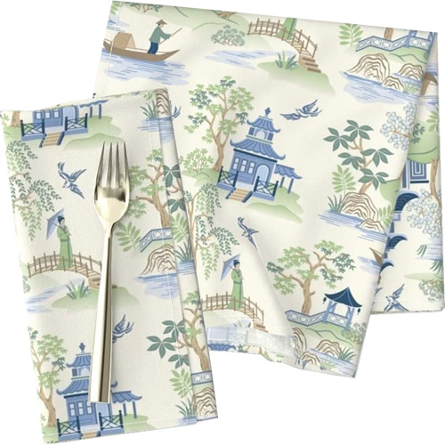 Roostery Chinoiserie Cloth Dinner Napkins