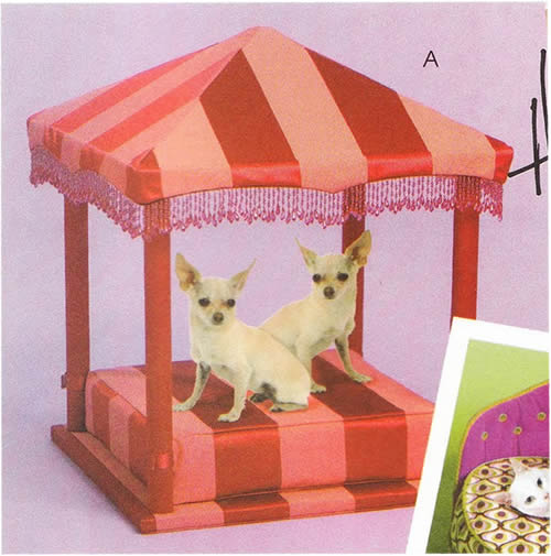 Pet Pagoda made with McCall's Crafts Pattern M5677 from the Hillary Duff Collection