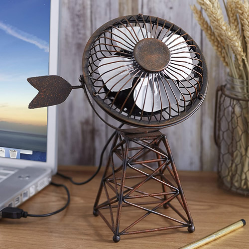 Lakeside Collection Small Windmill Desktop Fan