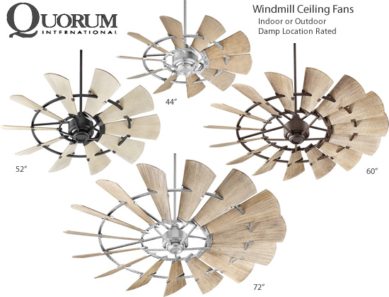 Quorum International Windmill Ceiling Fans