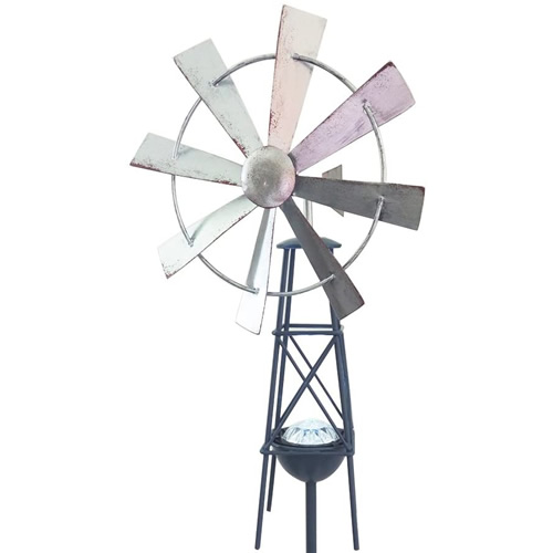 Headwind Consumer Products 830-1532 Metal Windmill Solar Stake Light