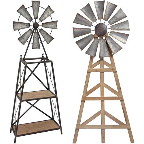 Sagebrook Home Windmill Shelf and Wall Decor