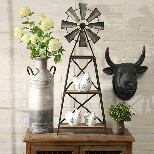 Sagebrook Home Windmill Shelf