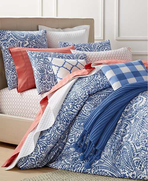 Charter Club Damask Collection has other mix and match colors to go with the classic blue and white