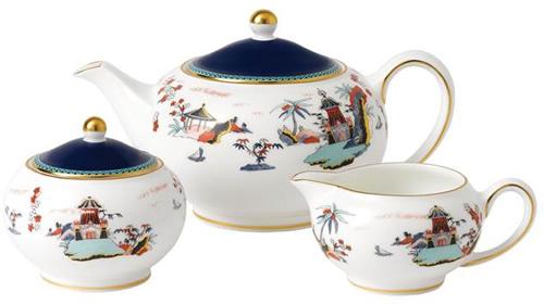 Wedgwood Wonderlust Blue Pagoda Tea Set