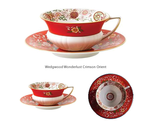 Wedgwood Wonderlust Crimson Orient Tea Cup and Saucer