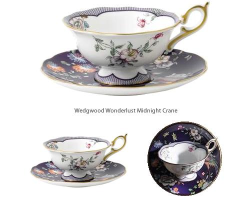 Wedgwood Wonderlust Midnight Crane Tea Cup and Saucer